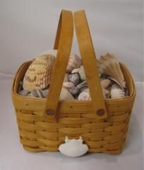 Longaberger Good OL' Summertime small seashell basket