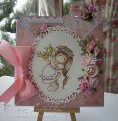 Craftingallday Creations: Joyful Tilda Criss Cross card
