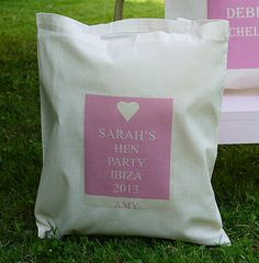 Personalised 'Hen Party' Bags