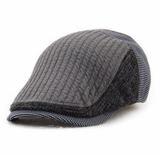 High-quality Men Solid Wool Beret Cap Retro Casual Outdoor Newsboy Peaked  Hat - NewChic 702d77582068c