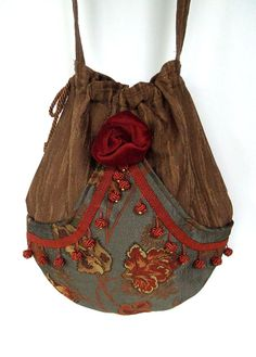 Tapestry Pocket Boho Bag  Drawstring Bag   by piperscrossing, $58.00