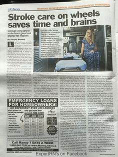 #Stroke care on wheels saves time and brains!  @hospitalnews  #Canada's first stroke ambulance....