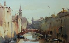 Home - Ross Paterson Watercolor Landscape, Watercolor Paintings, Istanbul Turkey, Watercolors, Unity, Perspective, Boats, Landscapes, Illustration Art