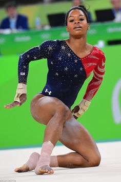 Team USA& women& gymnastics team has begun its quest to bring home gold from Rio. Gabby Douglas, one fifth of the Fierce Five, was the first athlete to compete in Qualification Four. Team Usa Gymnastics, Amazing Gymnastics, Artistic Gymnastics, Olympic Gymnastics, Gymnastics History, Olympic Games Sports, Olympic Team, Usa Olympics, Summer Olympics