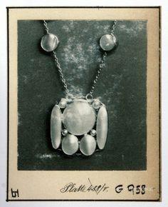 Pattern: Pendant - Josef Hoffmann, 1909 Koloman Moser, Vienna, Dog Tag Necklace, Joseph, Art Nouveau, Brooch, Pendant Necklace, Pearls, Chain
