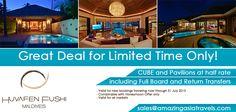 Huvafen Fushi by Per AQUUM - SUMMER OFFER! Markets: Valid for All Markets Email: sales@amazingasiatravels.com