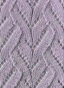 Lace Waves in Vertical Free Knit Stitch