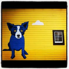Blue dog by George Rodrigue. RIP... thank you for all you gave to New Orleans culture.