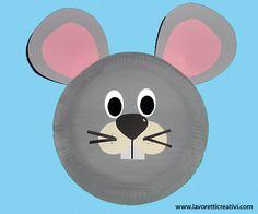 Maschere Carnevale con piatti di carta – Topo