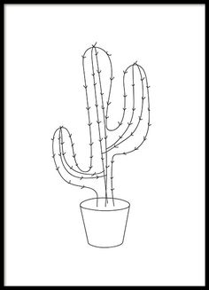 A graphic poster with an illustration of a cactus. Black and white design that works nicely in any frame and is both playful and severe at the same time. You can find more graphic posters in our Graphic-category and put together a trendy collage for your living room, for example. www.desenio.com