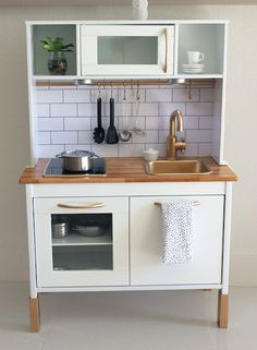Before and After: Brilliant IKEA Duktig Kitchen Makeover // play kitchen