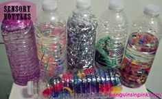 Sensory Bottles.  A fun and educational DIY toy for your baby or toddler.