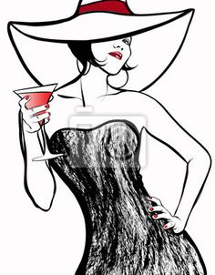 """Résultat de recherche d'images pour """"dessins chapeau femme"""""""