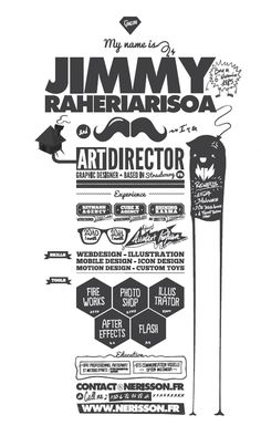 Infographic resume collection that can get you hired. See how infographic elements are used in order to create a professional resume that jumps off. Cv Inspiration, Graphic Design Inspiration, Graphic Design Resume, Typography Design, Typo Design, Web Design, Design Layouts, Design Art, Design Ideas