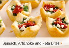 Spinach, Artichoke and Feta Bites