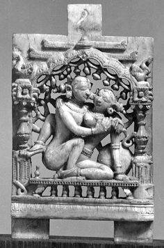Ivory Plaque with Mithuna (Loving Couple) - 14th Century India