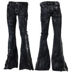 Ready to ship. Only one is available. Stage Pants RTS - Distressed Black WSCP-240
