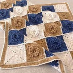 Galería: Increíble Colección de Mantas Tejidas ~ CTejidas [Crochet y Dos Agujas]