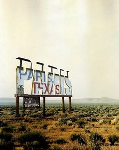 Cool poster for the movie Paris, Texas (dir. Wim Wenders, 1984). Design by Neil Kellerhouse.