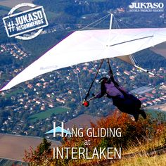 Experience the thrill of flying high over the Swiss Alps with Bumblebee Hang Gliding at Interlaken.  This is truly a wonderful experience. #JukasoRecommends