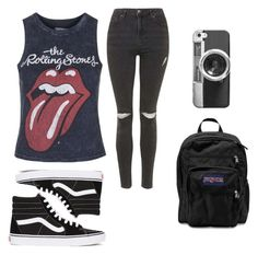 """""""Let's Travel."""" by dude-iloveyouxo ❤ liked on Polyvore featuring moda, Topshop, Vans, JanSport y Casetify"""