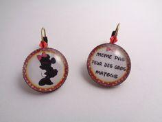 """Boucles d'oreilles dormeuses """"Petite souris"""" pour donner un brin d'humour à votre tenue : Boucles d'oreille par annahe-creation"""