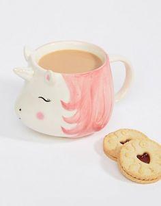 "Cute Mythical Magical Drinking Glass 5.5/""L Rainbow Resin Unicorn Coffee Mug"