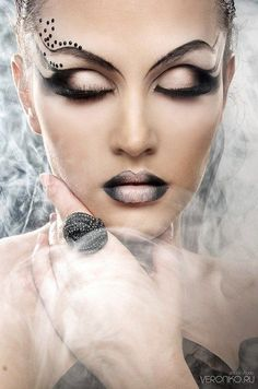 Cool makeup ideas for Halloween Looking eyes - love the spider web and scroll looks. Description from pinterest.com. I searched for this on bing.com/images