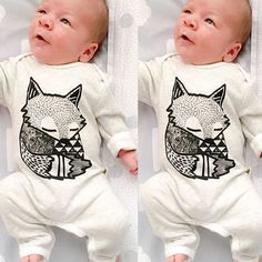 Lovely Newborn Baby Girls Boy Fox Romper Bodysuit Playsuit Outfits Clothes 0 24M | eBay