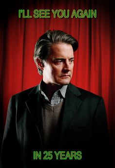 Agent Cooper = awesome. I really wish Twin Peaks hadn't ended the way it did. Worst mistake ever was to solve Laura Palmer's murder so early.