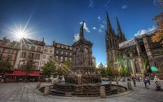 Victory place in Clermont-Ferrand, France.