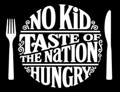 THE ART OF HAND LETTERING: No Kid Hungry Taste of the Nation logo.