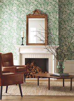 Wallpaper Your Way to a Whimsical Home With Rifle Paper Co.'s New Offerings #dwell #wallpaperideas #wallpaper #dwellshop #floral #interiordesign Wallpaper Ceiling, Old Wallpaper, Print Wallpaper, Wallpaper Ideas, Cozy Living Rooms, Living Spaces, House Of Turquoise, Rifle Paper Co, Prefab Homes