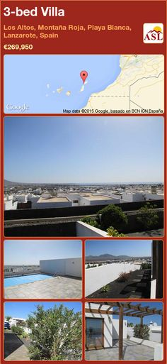 3-bed Villa in Los Altos, Montaña Roja, Playa Blanca, Lanzarote, Spain ►€269,950 #PropertyForSaleInSpain Desktop Screenshot, Villa, Random, White People, Beach, Lanzarote, Fork, Casual, Villas
