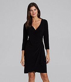 Calvin Klein FauxWrap LBD Dress #Dillards