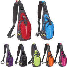 Backpack - Oxford Chest Bag - 7 Bright colors - Outdoor Sports - Travel - Hiking - Shoulder Sling Carry Bag