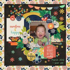 Layout using {I Am Carefree} Digital Scrapbook Collab Kit by Digilicious Design and Meghan Mullens http://www.sweetshoppedesigns.com/sweetshoppe/product.php?productid=31136&cat=756&page=1