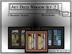 fantasticSims' Art Deco Stained Glass Set 2 - Roaring 20's