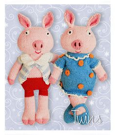 Ravelry: twins' Little Twisted Tail the Piglet