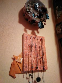 Fox and canvas of necklaces love