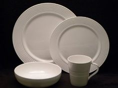 Lenox Tin Can Alley Twelve 4 Pc Place Settings 7 Ring & Lenox 110801000 WESTCHESTER DW DINNER PLATE - Pack of 12 ...