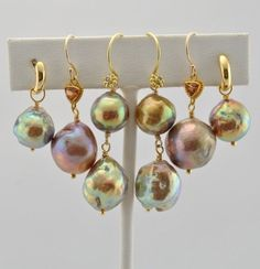 Japanese Kasumi Pearls as earrings