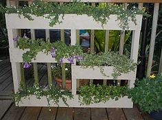 Another great way to recycle pallets by turning them into a planter.