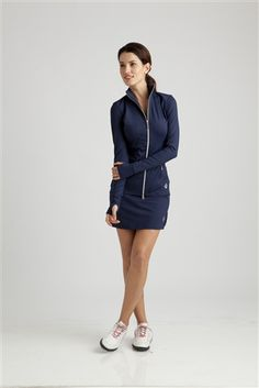 Classic Navy #golf and #tennis outfit | #Golf4Her