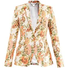 Stella McCartney Roman floral jacquard blazer ($1,521) found on Polyvore