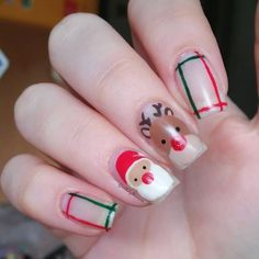 "𝓜𝓸𝓷𝓲𝓬𝓪✨ en Instagram: ""Rudolf and Santa are here🎅✨🙈 ⠀⠀⠀⠀⠀⠀ For #nailartpromotechallenge @nailartpromote and #glamnailschallengedec…"""