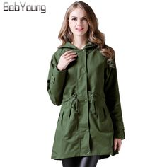 BabYoung 2017 Winter Windbreaker Women Trench Long Sleeve Overcoat Casual Hooded Outerwear Warm Trench Coat Plus Size XL~4XL -*- AliExpress Affiliate's buyable pin. Click the VISIT button for detailed description on www.aliexpress.com