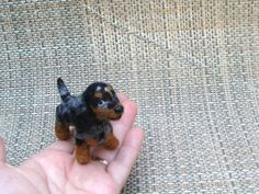Needle Felted Dog /Custom Miniature Sculpture of by GourmetFelted, $250.00