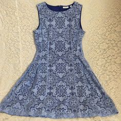 Lavender Dress Lace Sleeveless Stretch Fit Flare Wedding Cocktail Party Size 12 #NewYorkCompany #FitandFlareAlinedress #Cocktail