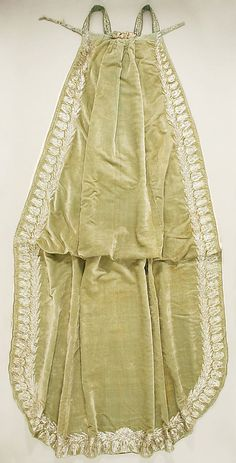 Court train, silk ant metallic thread, 1809, French.